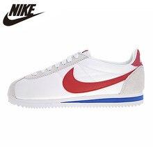 Мужские и женские кроссовки Nike Classic Cortez, уличные износостойкие кроссовки, белые, нескользящие легкие 354698 161