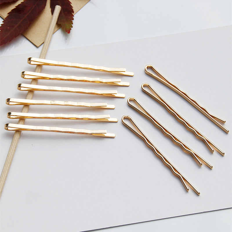 3 Pcs/Set Fashion Women Girls Styling Accessories Gold Color Wavy Hair Clips Hairpins Salon Hair Clip DIY Modeling Clip