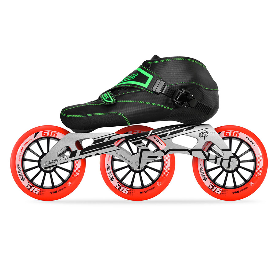 100 Original Bont Enduro 2PT 195MM 2PT Speed Inline Skates Heatmoldable Carbon Fiber Boot Frame 3