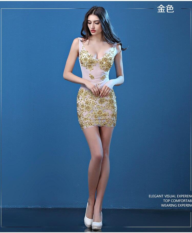 dfc70c0c3844e Sexy Col V profond mini dentelle cocktail robes fille plus la taille  cocktail dress court strass robes de soirée JWJ40001 dans Robes De Cocktail  de Mariages ...