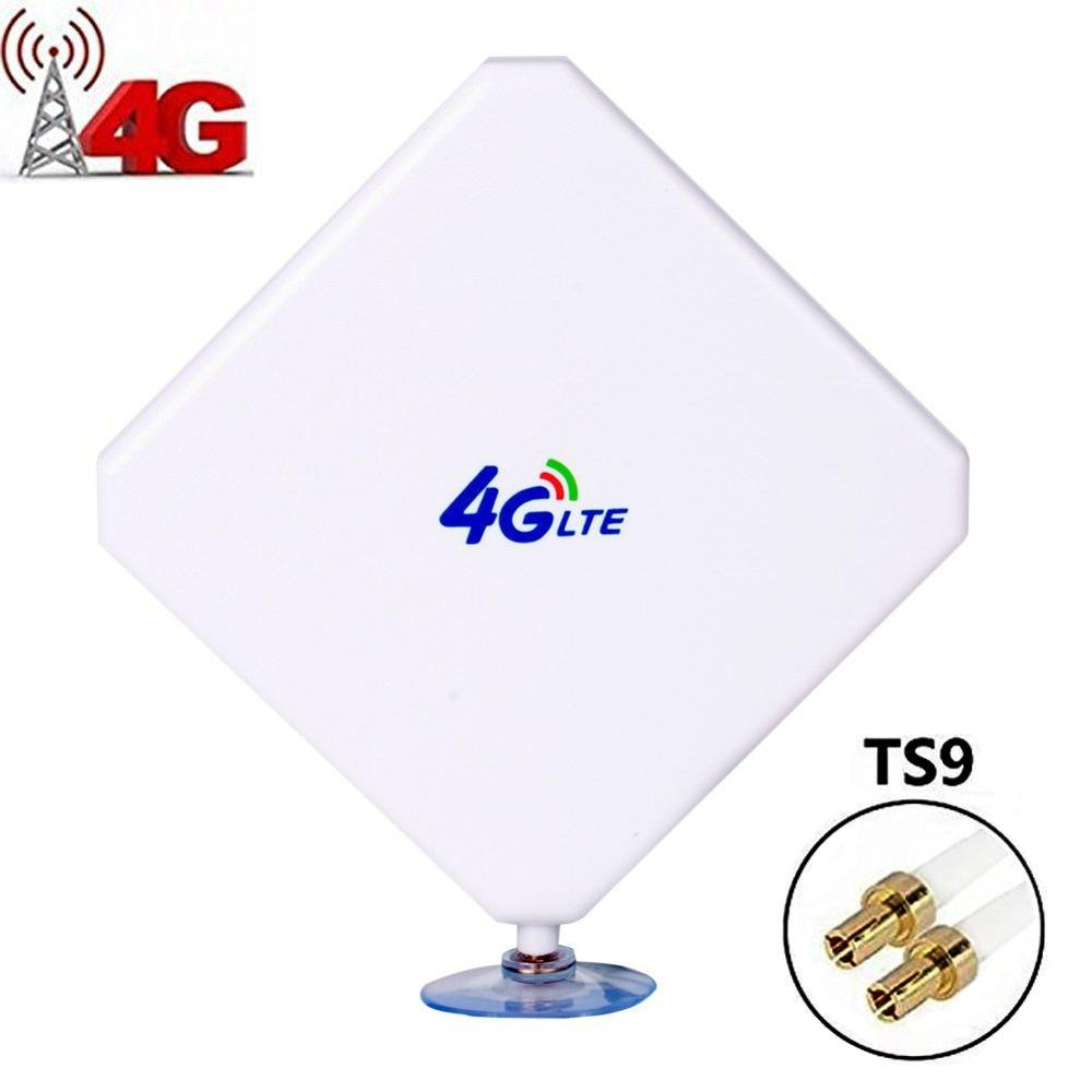 4G LTE Antenna TS9, Aigital 35dBi Dual Mimo TS9 Antenna GSM/3G High Gain Antenna Signal Booster With 6ft Cable Outdoor Antenna