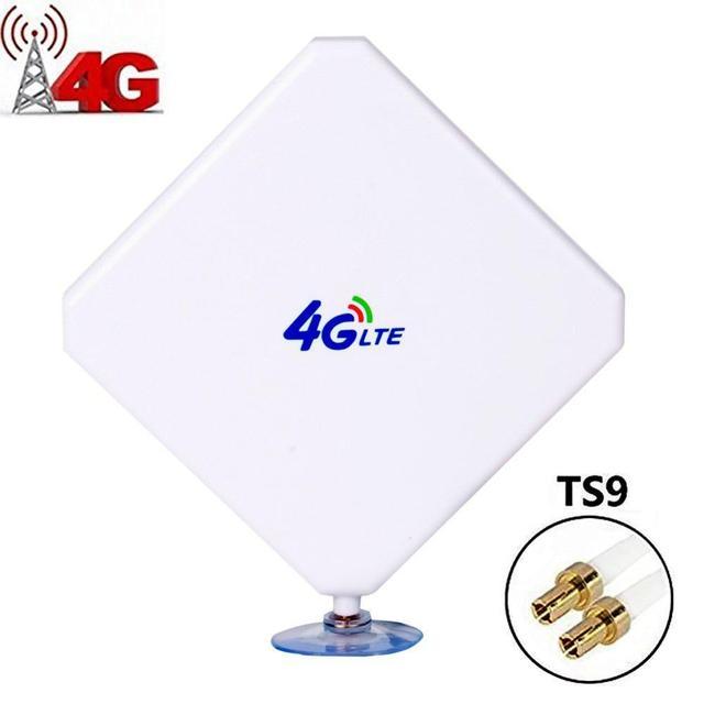 Antena 4G LTE TS9, Aigital 35dBi Dual Mimo TS9 antena GSM/3G amplificador de señal de antena de alta ganancia con Cable de 6 pies antena exterior