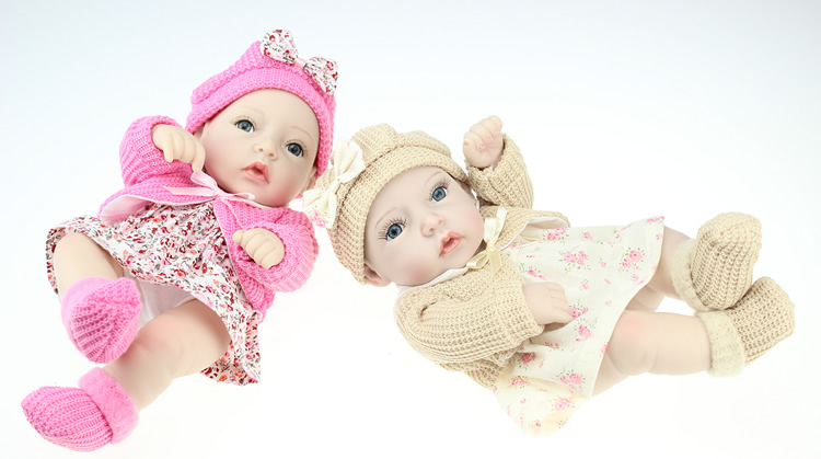 Girl Body Tiny Smiling 11 Inch Reborn Baby Doll Full Silicone Vinyl Newborn Princess Girls With Clothes Kids Birthday Gift