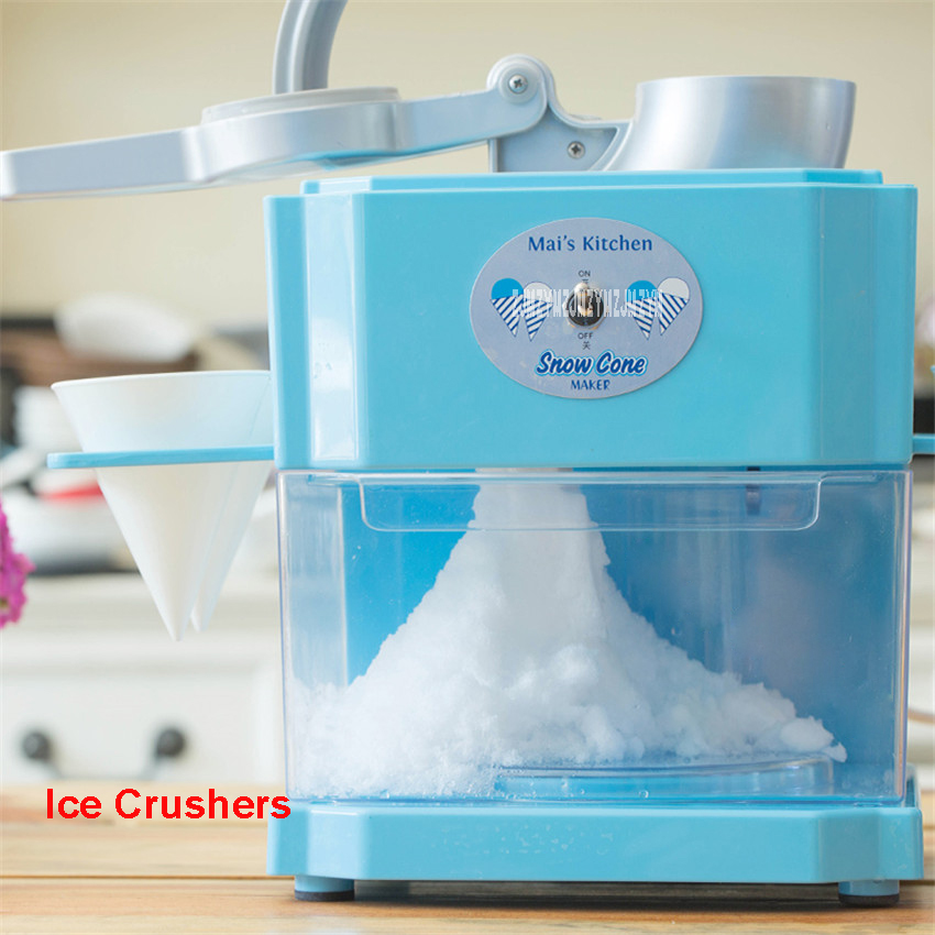MZ0009 220V-240V 90w 2000-3000ml Ice shaver Electric Ice Crusher Commercial DIY Ice Cream Maker Home children Ice Crushers hand driven ice crusher commercial and home use crushed ice machine zf
