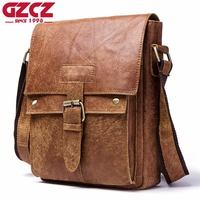 GZCZ New Shoulder Bags Genuine Leather Men Bag Famous Brand Design High capacity Briefcase For Travel Cow Messenger Bags Fashion