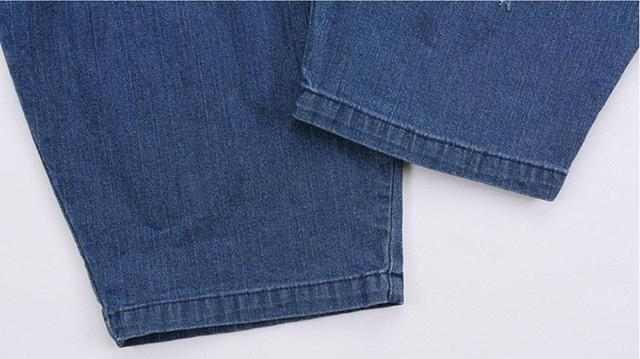 6XL plus size fit 200 pounds Fashion brand loose style Hole jeans Female elastic waist cotton denim pencil jeans wj2190