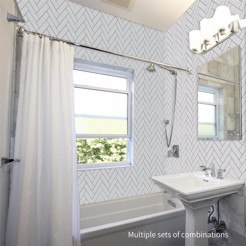 Yanqiao White Herringbone Tiles Home Kitchen Bathroom Living Room ...