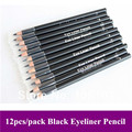 Free Shipping Makeup Professional Eye liner Pencil,Waterproof Long-lasting Cosmetic Black Eyeliner pencil 12pcs/lots
