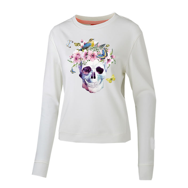 skull flower patches for clothing iron on transfer for T shirt jeans ghost stickers diy patch thermocollants vetement parches in Patches from Home Garden