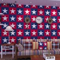 Non woven Wallpaper Rolls Star Geometric Luminous Wallpaper Kids Ceiling Decor Fluorescent Wall Paper For Children Bedroom