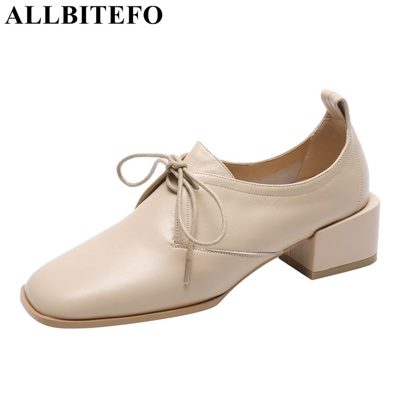 ALLBITEFO fashion natural genuine leather women heels shoes leisure girls low heel shoes office work shoes woman tacones mujerALLBITEFO fashion natural genuine leather women heels shoes leisure girls low heel shoes office work shoes woman tacones mujer