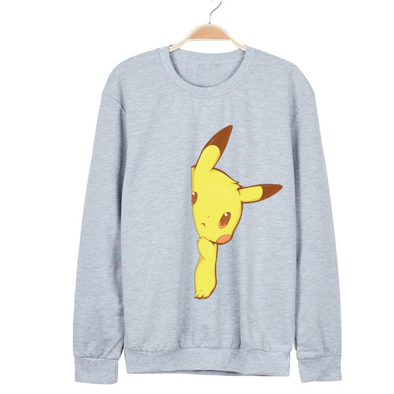 Pokemon Hoodie Pikachu Sweatshirts Men Funny Oversized 4Xl Hoodies Kawaii Anime Sueter S ...