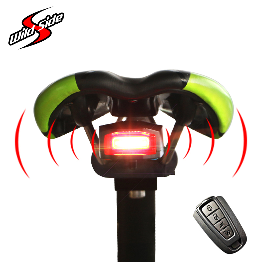 4 In 1 Anti-theft Bike Light Warning Bicycle Security Alarm Wireless Remote Control Alerter Taillights Waterproof Cycling Parts