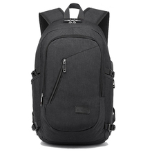LJL New USB Charging Backpacks With Headphone Jack Business Laptop Men Backpack Travel School