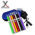 Hot  Double EVOD MT3 Electronic Cigarette Kits 650,900,1100mah EVOD Battery 2.4ml MT3 Atomizer Zipper Case Free Shipping NO.07