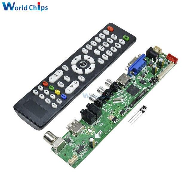 Универсальный ЖК дисплей плате контроллера разрешение ТВ материнская плата VGA/HDMI/AV/ТВ/USB HDMI интерфейс драйвер платы