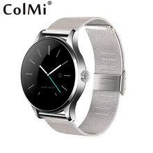 ColMi IPS Screen Bluetooth Smartwatch K88H Pulsmesser Metall Uhr Alle Kompatibel Für ISO Android Telefon Smartclock