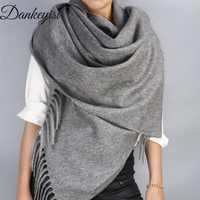 DANKEYISI Oversized Wool Scarf Shawl Female Warm Soild Color Autumn Winter Women Scarf Long Pashmina Men