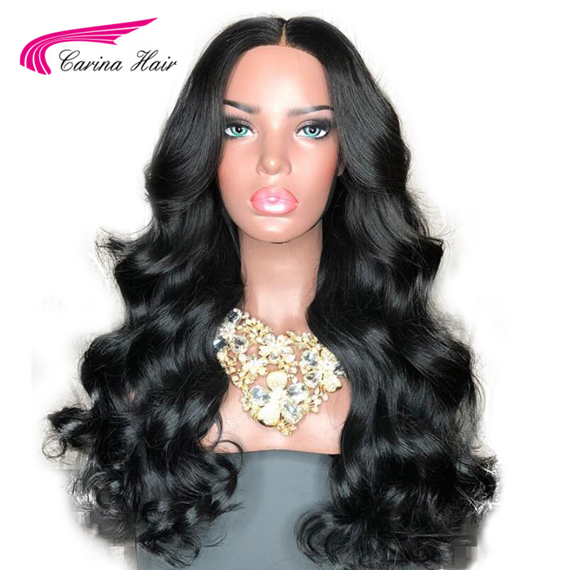 Carina Lace Front Human Hair Wigs With Baby Hair Peruvian Remy Body Wave Hair Lace Wigs