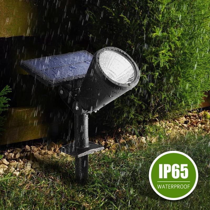 Litom Led Solar Light 1 Ip65 Waterproof Spotlight Outdoor Landscape Lighting Security Night Garden Panel Path Lawn Lampion In Lamps From