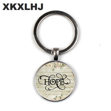 2018/ Hot Sale HOPE Charm Keychain, Hopeful, Hope Pendant, Inspirational Gift, Survivor