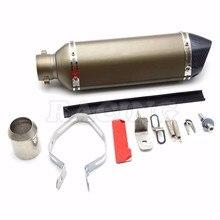 motorcycle exhaust pipe motorbike muffler silencer For TTRYZF RSZ CBR CB400 CF250 CBR600   CBR250 ER6N ER6R YZF600