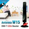 Preto 12dBi Antena Antena Para DVB-T de TV Digital HDTV Tdt Reforço Fortalecer Amplificador