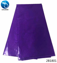 LIULANZHI african bazin riche getzner fabrc guinea brocade fabric 5yards high quality purple for party 2B18