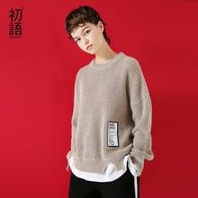 Toyouth נשים של סוודר 2018 טלאי סוודרי סוודר סרוג עבור נשים צוות צוואר ארוך שרוול סדיר נשי Jumpe חולצות