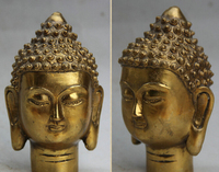 Xd 002949 5 Tibet Budizm Pirinç Shakyamuni Amitabha Buda Tathagata Başkanı Göğüs Heykeli