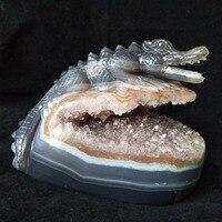 Крокодил Sobek скульптура натуральный камень, агат geode Кристалл Кост ручная гравировка украшения дома интимные аксессуары камень работы стат