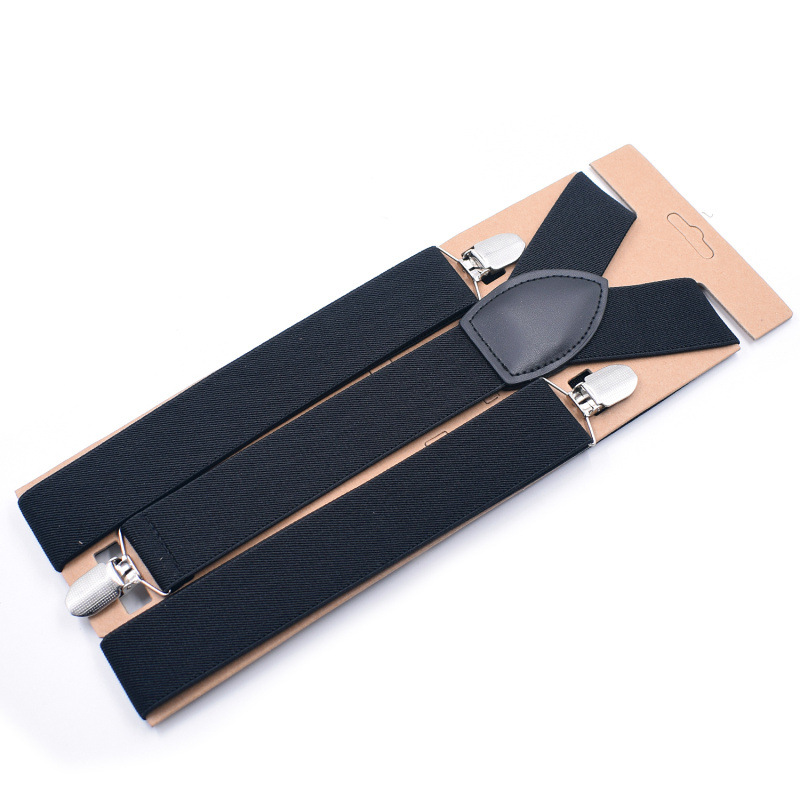 Men Suspenders Clip-on Braces Elastic Y-Shape Adjustable Suspenders Tirantes Braces Suspensorio Black Blue Khaki