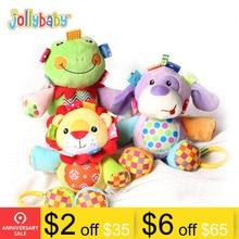 Купить с кэшбэком Jollybaby Plush Cute Musical Stuffed Animal Infant Toys Melody Baby Toys
