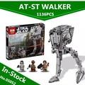 EN STOCK Lepin 05052 1068 UNIDS Nueva Serie Star El Imperio AT-ST Robot Bloques de Construcción Ladrillos Juguetes 10174