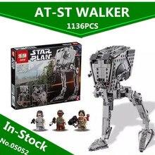 W MAGAZYNIE Lepin 05052 1068 SZTUK New Star War Series Imperium AT-ST Robota Klocki Klocki Zestaw Zabawek 10174