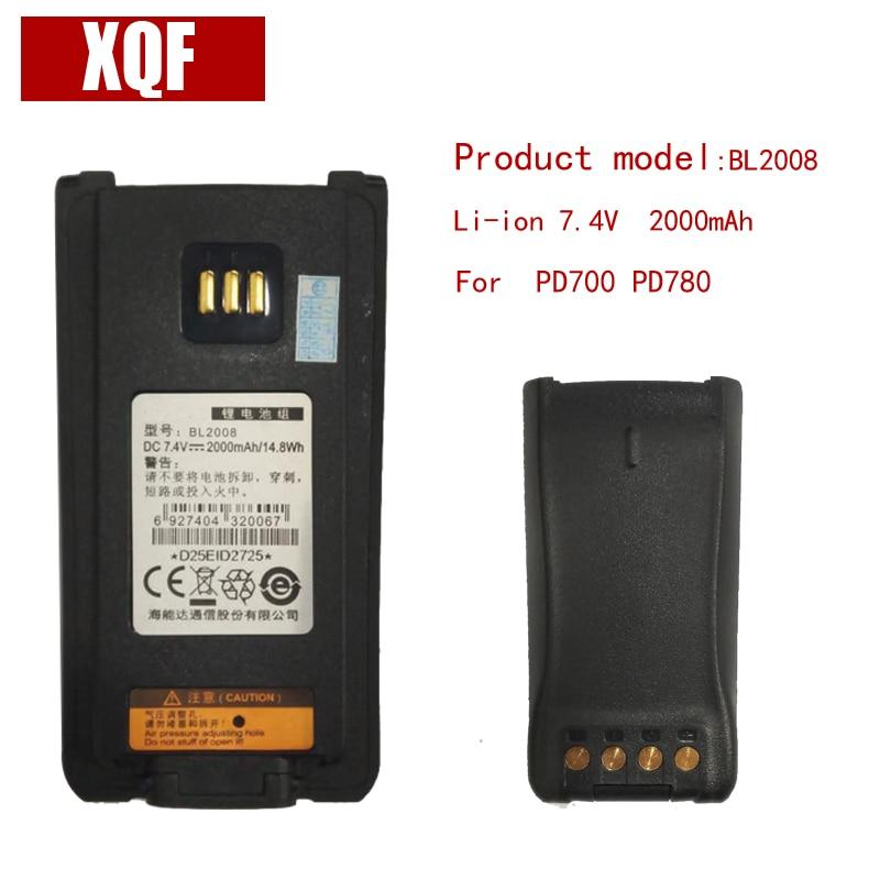 D'origine BL2008 LI-ON 7.4 V 2000 mAH Batterie pour Hytera HYT Radio PD700, PD780 Talkie Walkie