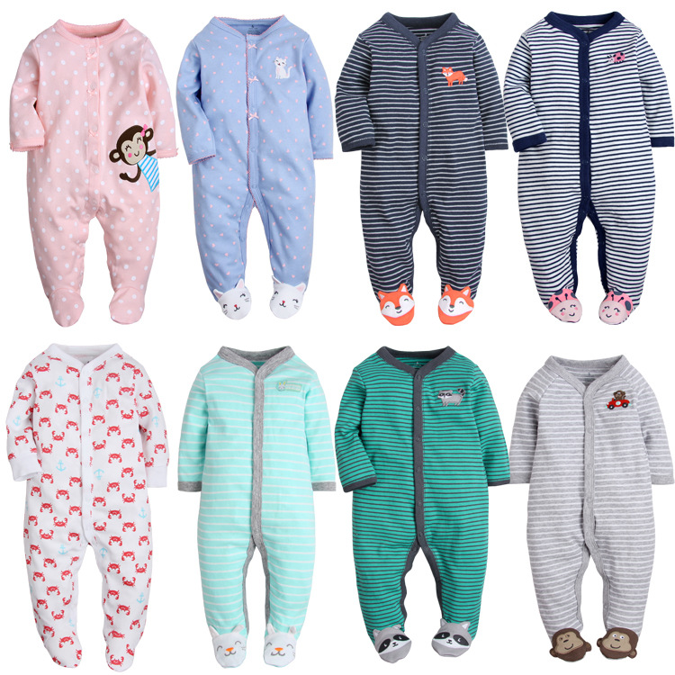 Newborn Baby Pajamas Unicorn Cotton Romper Boys Clothes Overalls Romper Infants Bebes Jumpsuit Premature Infant Baby Clothes(China)