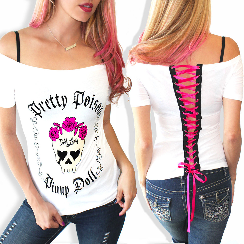 Sexy backless t shirt women summer fashion short sleeve bandage t shirt camisole lady cartoon o