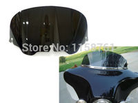 Free Shipping Motorcycle ABS Black 8 Windshield Windscreen For Harley FLHT FLHTC FLHX Touring