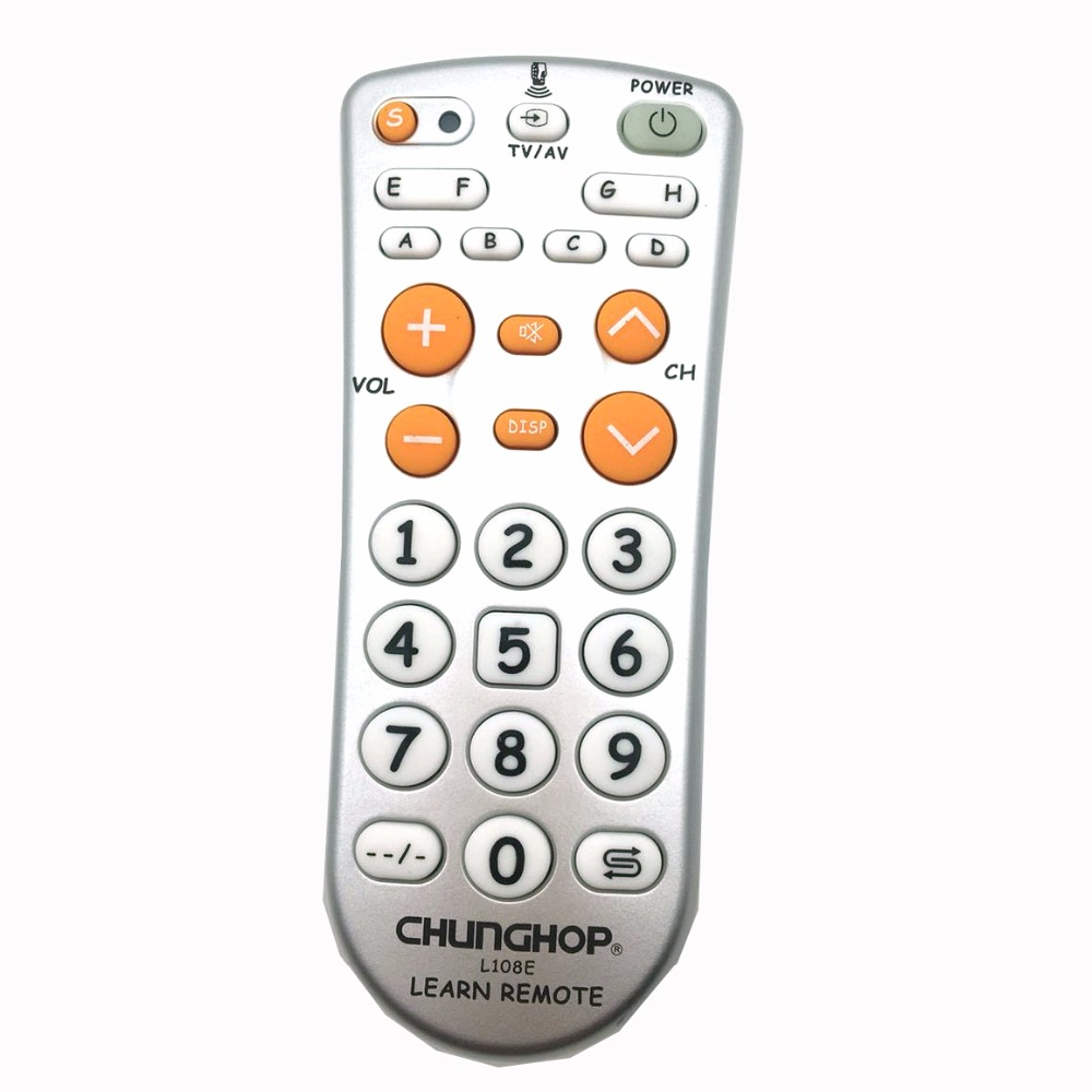 Hearty Chunghop Large Key Universal White With Green Multifunction Short Remote Control For Lcd Led Hd Tv Sets Remote Controls