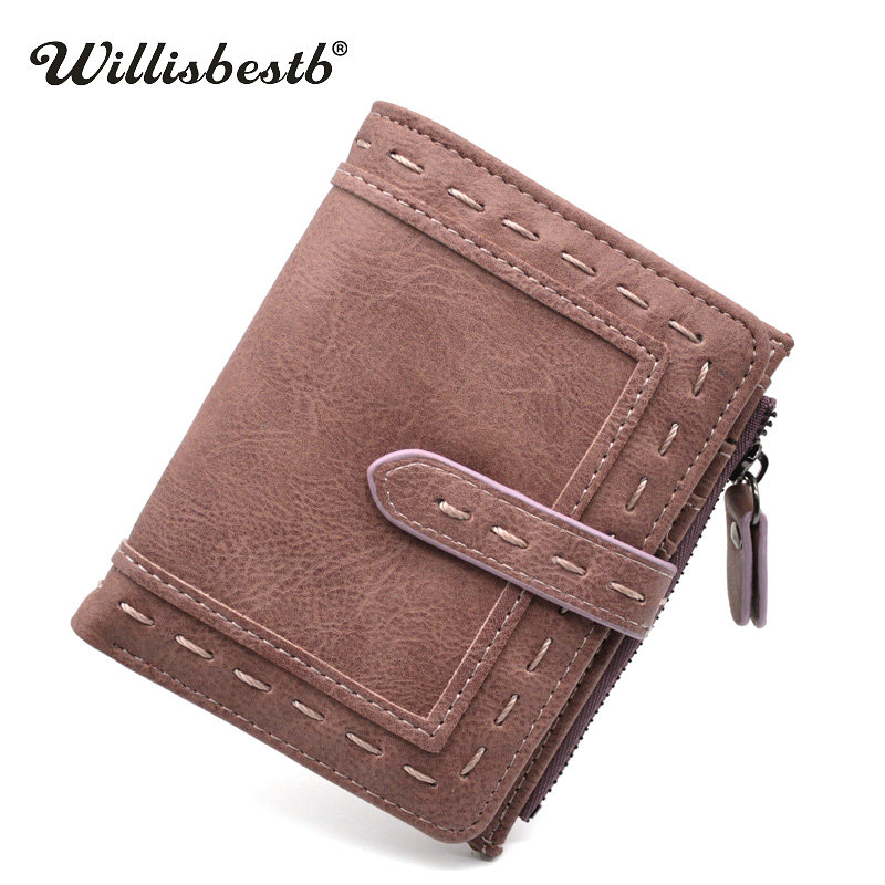 2018 New Luxury Vintage Small Purses Women Wallets Female Retro Hasp Short Clutch Brand Designer Leather Coin Purse Woman Wallet