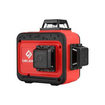 SHIJING 7359 3D 12 linien laser mit grüne linie 360 laser ebene kann arbeit mit empfänger und fernbedienung