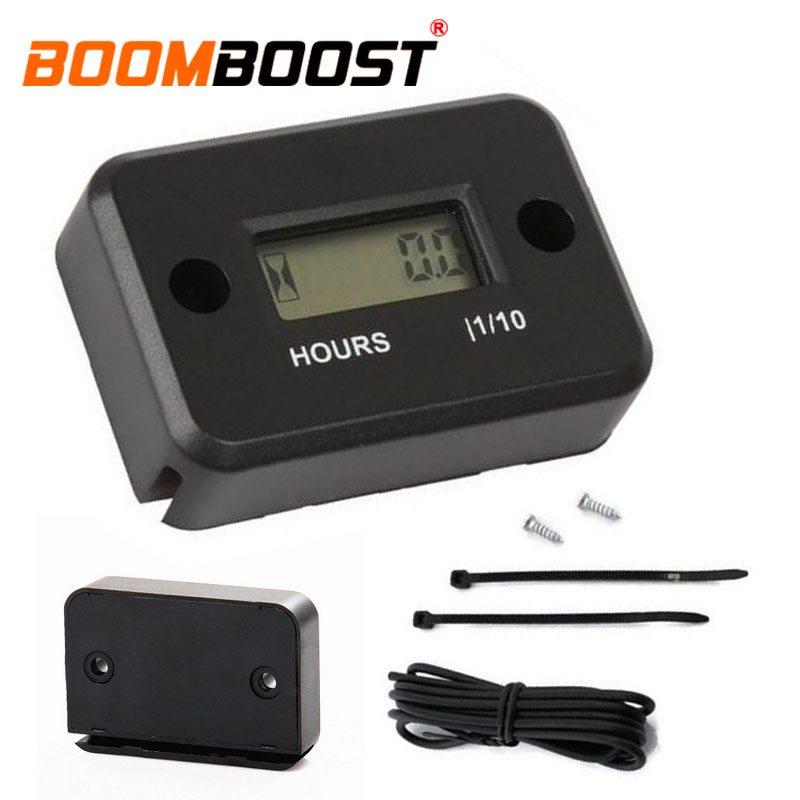 Universal LCD Display Hour Meter Motorcycle ATV Scooter Marine Boat Gauge Timer
