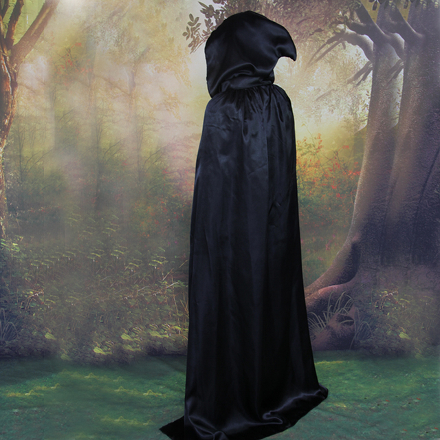 Halloween Costumes Adult Children Black Devil cloak Witch Cloak  A god of death Vampires Ghost Cosplay Costume