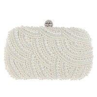 962b7a7ab Oval Shaped Pearls Beaded Handmade Boxes Evening Bag Handbag Purse White  Clutch Bag 16 00 10. Oval Em Forma de Pérola Frisado Bolsa Mulheres Bolsas  Cadeia ...
