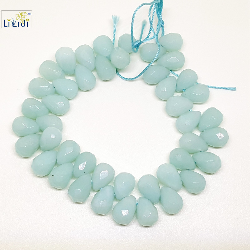 Natural stone Amazonite 6x9mm Faceted Tear Drop Shape bead DIY Jewelry Making for Necklace&Bracelet&Earring все цены
