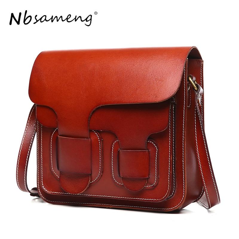 NBSAMENG Women Genuine Leather Shoulder Bag Luxury Brand Bags  Women Messenger Crossbody Bags for Women Ladies Bolsas Feminina