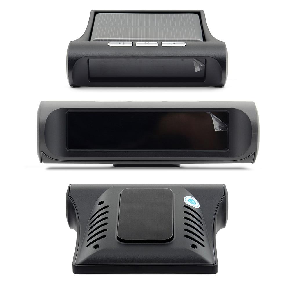Professional Solar TPMS Car Tire Pressure Alarm Monitor System Display 4 External Sensors Temperature Warning Fuel Save 7