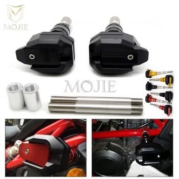For Ducati Monster 821 1200 X-DIAVEL 1200 Motorcycle Aluminum Frame Slider Falling Protectors Motorbike Frame Sliders Crash Pad