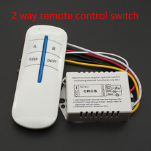 220V 2 Ways Wireless ON/OFF Lamp Remote Control Switch Receiver Transmitter(China)